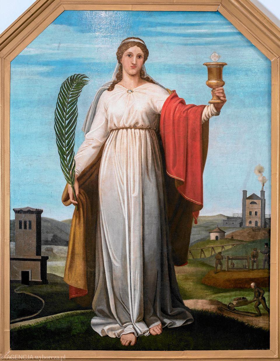 Obraz św. Barbary z Muzeum w Tarnowskich Górach jest częścią kolekcji przedmiotów związanych z tarnogórskim górnictwem, które od XVI do początku XX wieku kształtowało charakter miasta