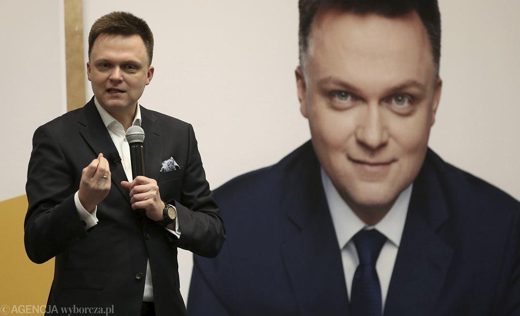 Kandydat na stanowisko prezydenta Szymon Hołownia
