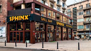 Restauracja sieci Sphinx w Warszawie.