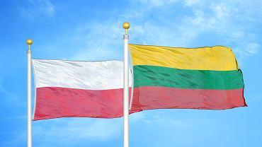 Flagi Polski i Litwy
