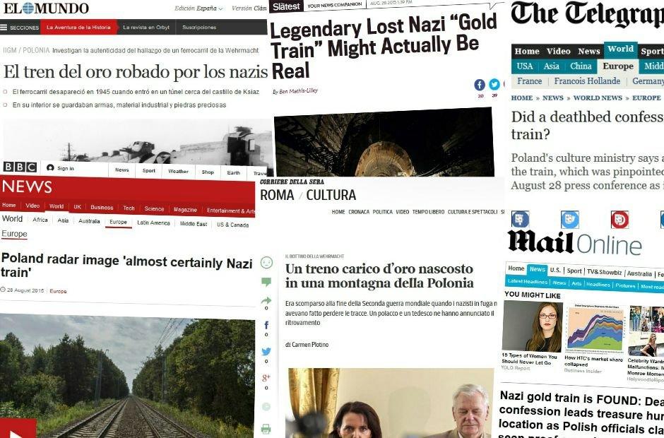 Światowe media o złotym pociągu