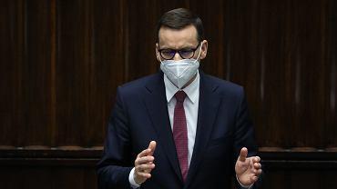 04.05.2021 Warszawa, Sejm. Premier Mateusz Morawiecki podczas posiedzenia Sejmu IX Kadencji
