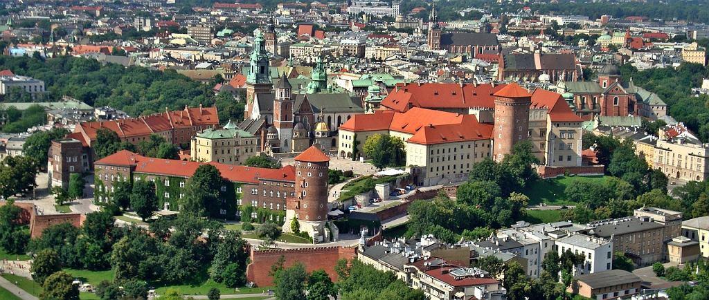 Kraków - panorama miasta z lotu ptaka