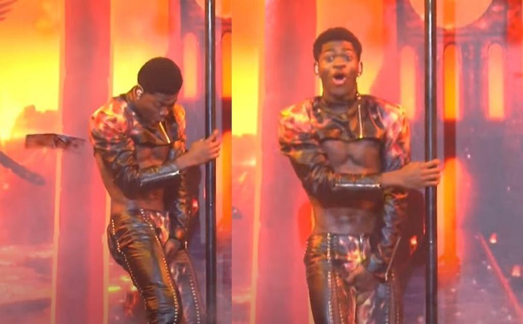 Lil Nas X podczas występu w Saturday Night Live.