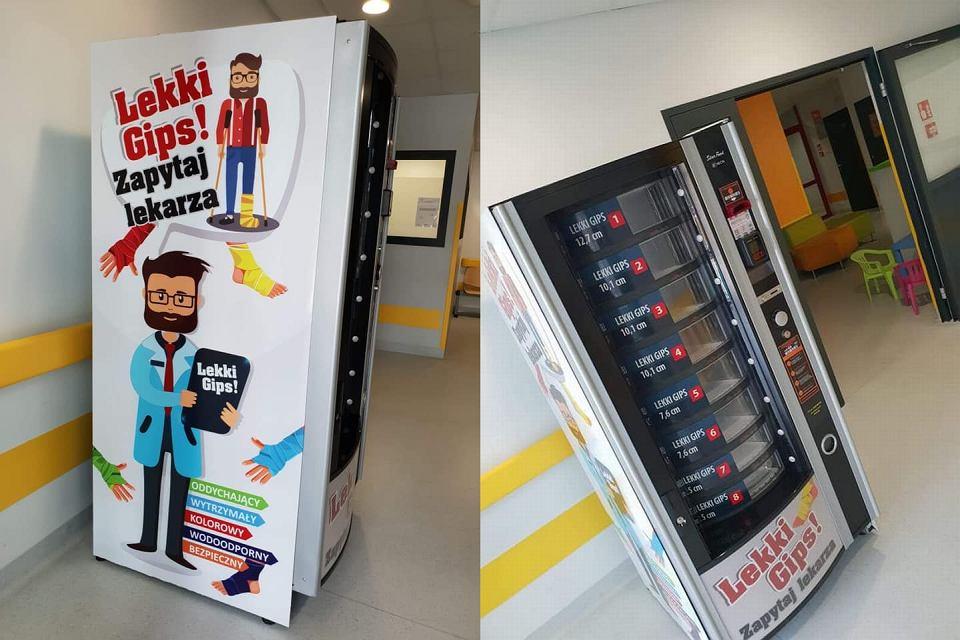 Gipsomat w szpitalu w Kaliszu należy do firmy Daw -Matick, która na co dzień zajmuje się vendingiem, czyli dystrybucją automatów sprzedających kawy, napoje i przekąski. To pierwsza maszyna firmy z medycznym asortymentem.