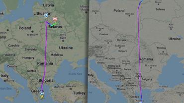 Te same lotniska, dwie różne trasy. Tak zmienił się lot FR4978 po zatrzymaniu Protasewicza