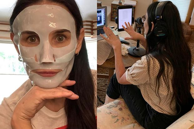 Demi Moore opublikowała na instagramowym koncie zdjęcie, jak pracuje. Aktorka brała udział w telekonferencji. Pozowała w bardzo dziwnej łazience.