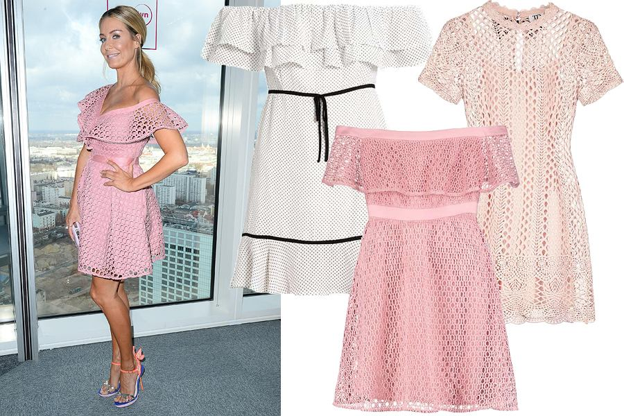 Kolaż, różowa sukienka/Materiały partnera
