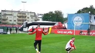 Gol Kamila Grosickiego na treningu reprezentacji Polski