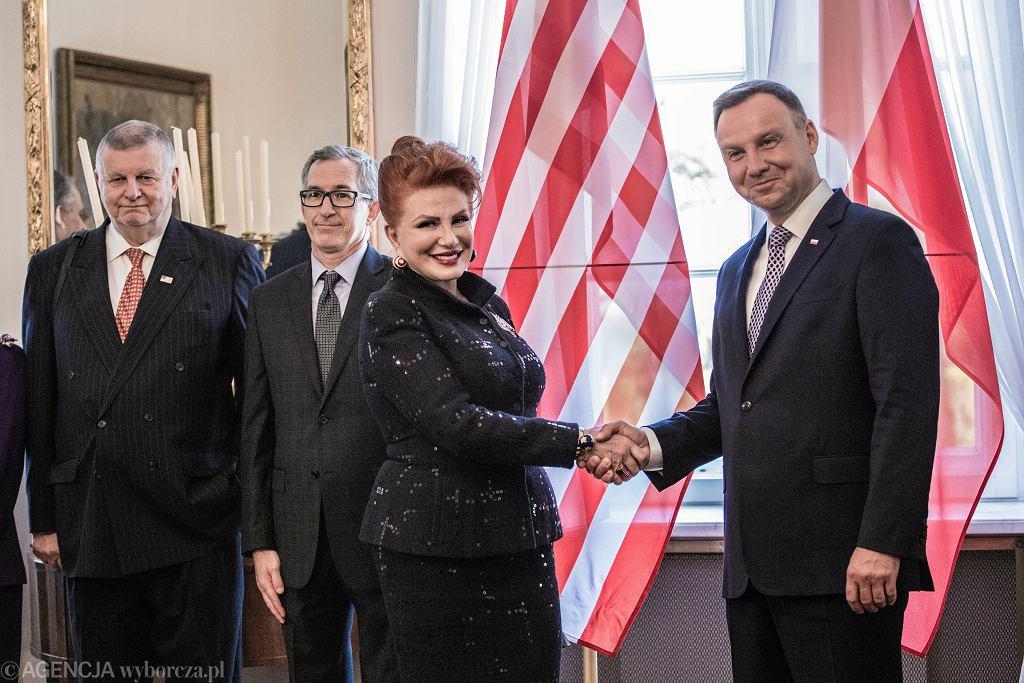 NUroczystosc wreczenia w Warszawie listow uwierzytelniajacych przez ambasadorow