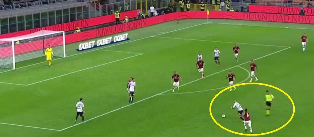 Przepiękne trafienie Marco Calderoniego w meczu z Milanem