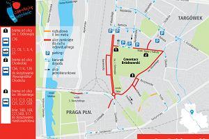 Wszystkich Świętych w Warszawie. Objazdy, zamknięte ulice. Jak dojechać na cmentarz