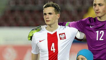 Mecz Polska - Niemcy reprezentacji do lat 20. Tomasz Kędziora z Lecha Poznań