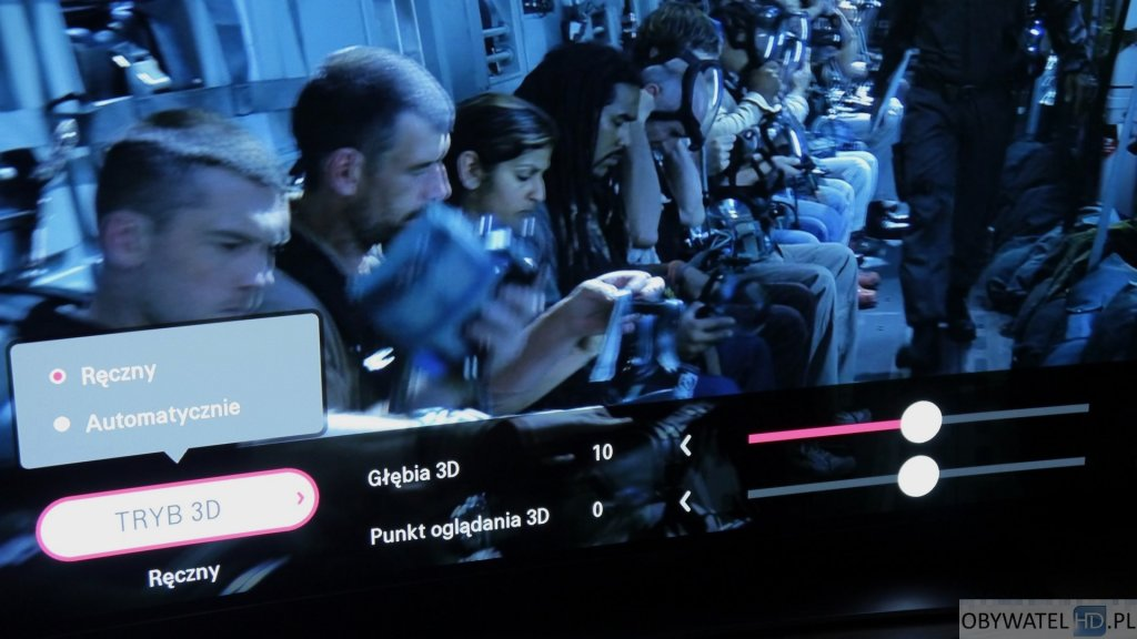 LG EG960V OLED 4K - 3D ustawienia