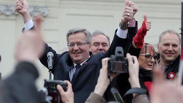 Prezydent Bronisław Komorowski i Jarosław Kurski, I wicenaczelny ''Gazety Wyborczej''