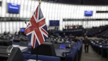 Flaga Wielkiej Brytanii w Parlamencie Europejskim. Strasburg, 16 stycznia 2019