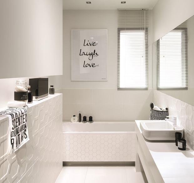 Aranżacja łazienki w bieli - kolekcja płytek All in White