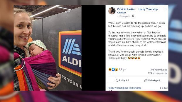 Kobieta weszła do sklepu, by zrobić zakupy. Oskarżyli ją, że ma sztuczne dziecko, by kraść jogurty