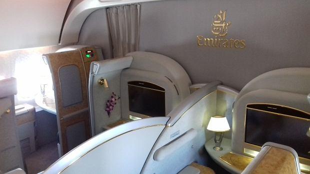 Klasa pierwsza w Emirates