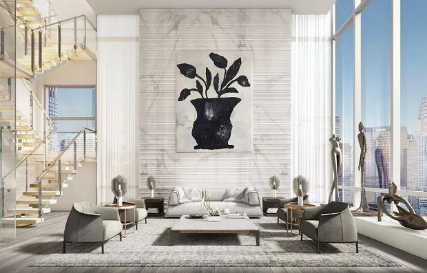 Obecnie najdroższa nieruchomość wystawiona na sprzedaż w Nowym Jorku - 172 Madison Avenue, 'Le Penthouse'.