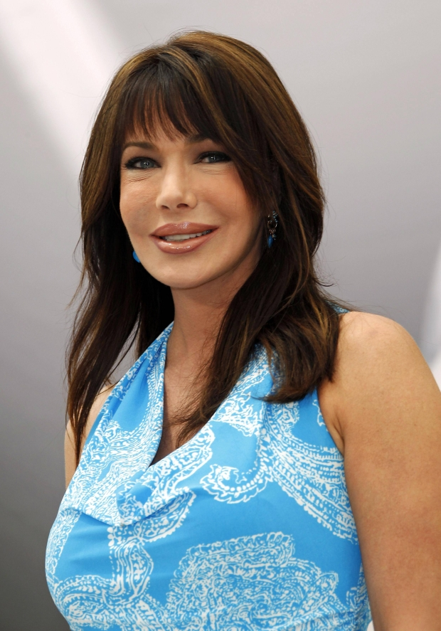 """Cast member Hunter Tylo poses during a photocall for the TV series """"The Bold and the Beautiful"""" at the 52nd Monte Carlo Television Festival in Monaco June 12, 2012.  REUTERS/Eric Gaillard (MONACO - Tags: ENTERTAINMENT)"""