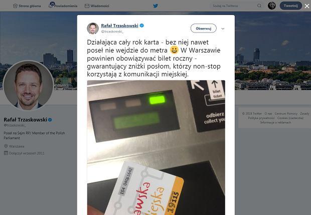 Rafał Trzaskowski popełnił wpadkę na Twitterze