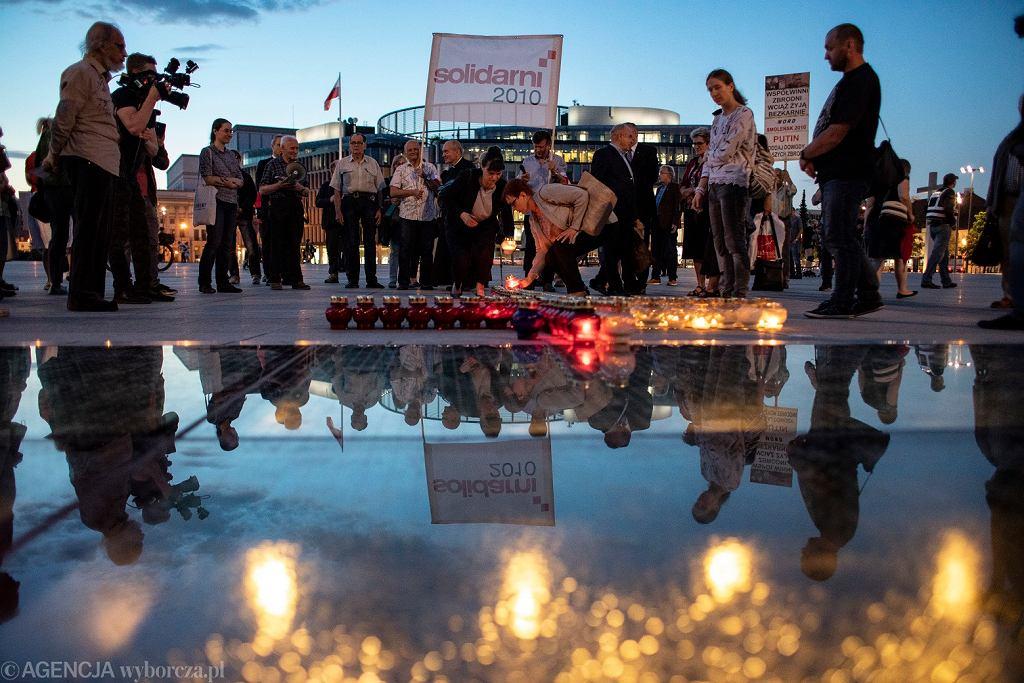 Wieczorne obchody 97. miesięcznicy katastrofy smoleńskiej