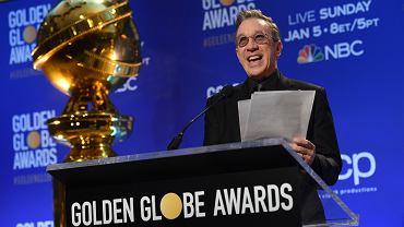 Tim Allen czyta nominacje do Złotych Globów