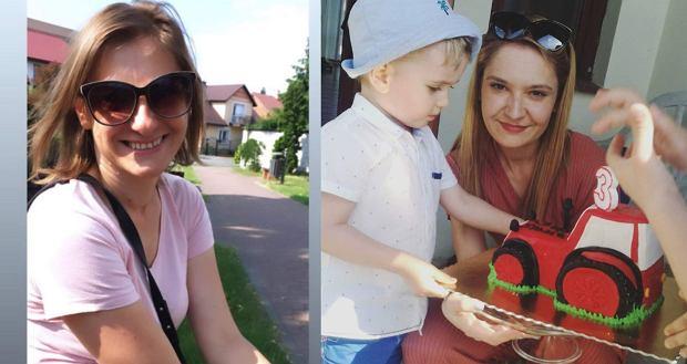 Anna Szarpak (po lewej stronie), a po prawej - Agata Szewczyk z synkiem