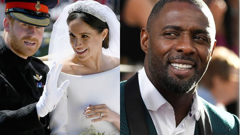 Meghan Markle. książę Harry, Idris Elba