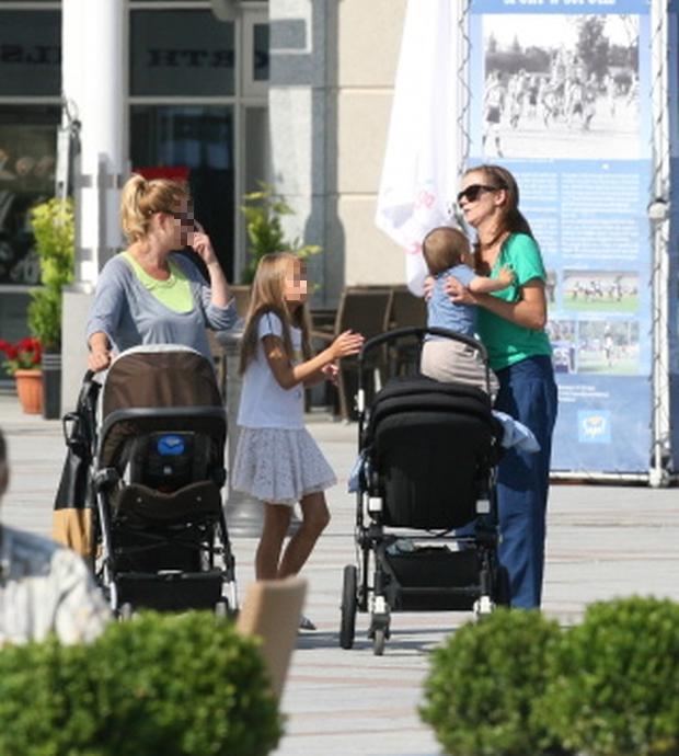 Anna Przybylska z synkiem