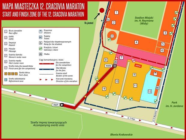 Mapa miasteczka 12. Cracovia Maratonu