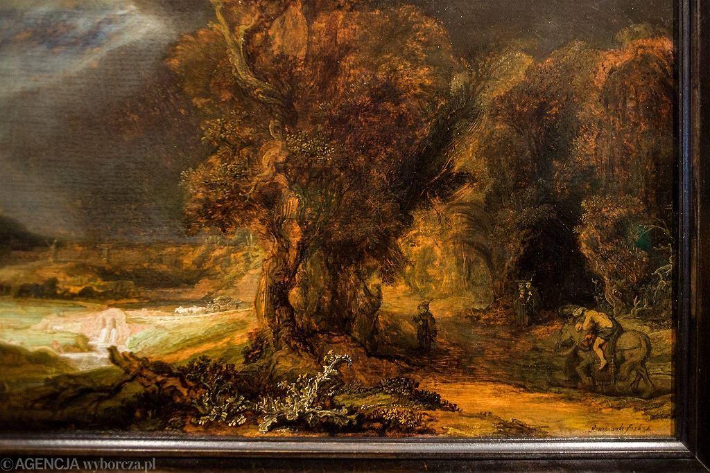 'Krajobraz z miłosiernym Samarytaninem' Rembrandta / KUBA OCIEPA