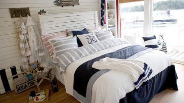 Sypialnia w marynistycznym stylu