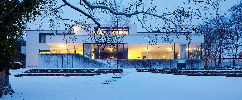 Willa Tugendhatów w Brnie. Ogród zimą (Fot. David Zidlicky)