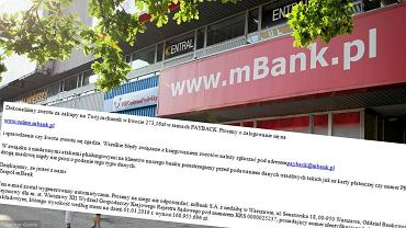 fałszywe maile do klientów mBanku