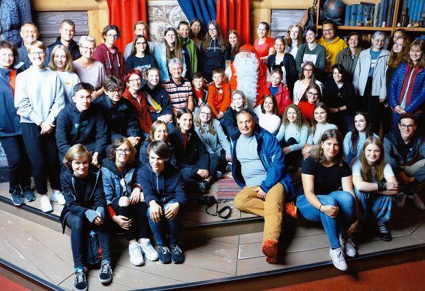 Uczniowie Kopernika podczas spotkania ze św. Mikołajem w Rovaniemi