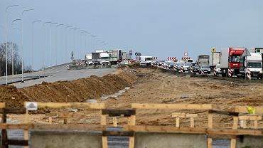 Budowa odcinka autostrady A1, węzeł Rząsawa