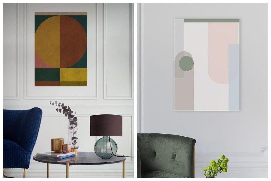 Obrazy geometryczne wzory