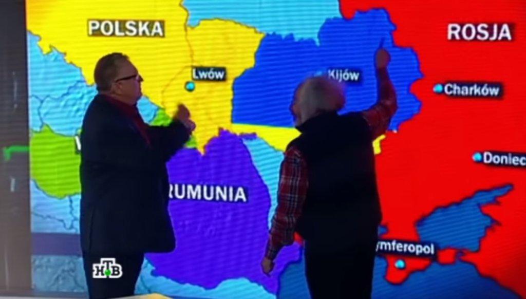 Władimir Żyrinowski i Aleksiej Wieniediktow w NTV