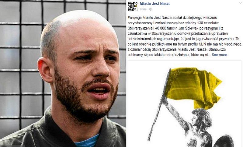Jan Śpiewak przejął fan page Miasto Jest Nasze