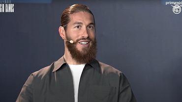 Sergio Ramos na konferencji prasowej związanej z zapowiedzią jego nowego serialu