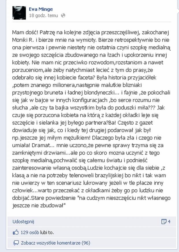 Ewa Minge Facebook