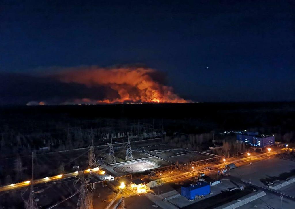 Pożar strefy wykluczenia w Czarnobylu