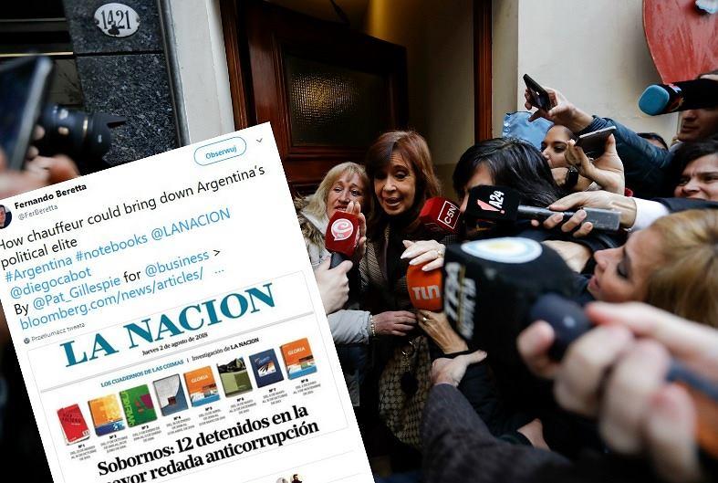 Problemy Argentyny podsyca m.in. skandal korupcyjny poprzedniego rządu. Na zdjęciu była prezydent Cristina Fernandex