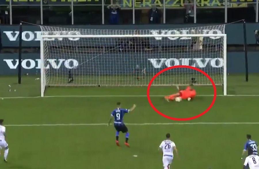 Bartłomiej Drągowski obronił rzut karny w meczu Empoli z Interem
