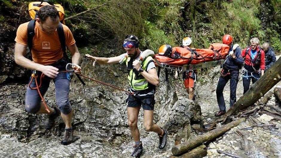 Dwoje turystów poszkodowanych w wąwozie Sucha Bela na Słowacji