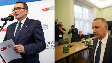Członek zarządu PFN Cezary Jurkiewicz oraz szef NIK, Marian Banaś