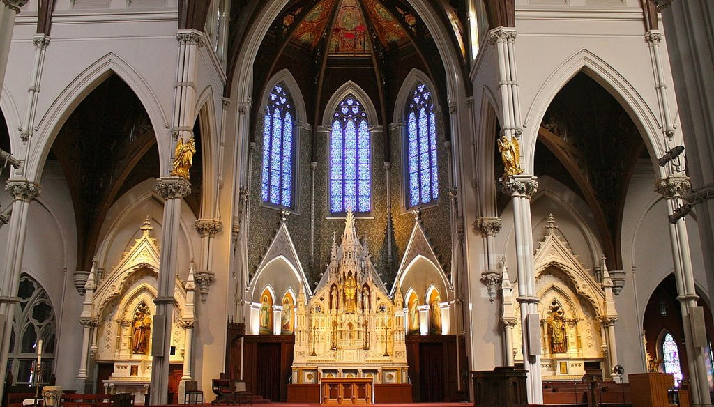 Katedra Św. Krzyża w Bostonie, kościół archidiecezjalny (fot. Stefan14776/wikimedia commons/CC01.0)