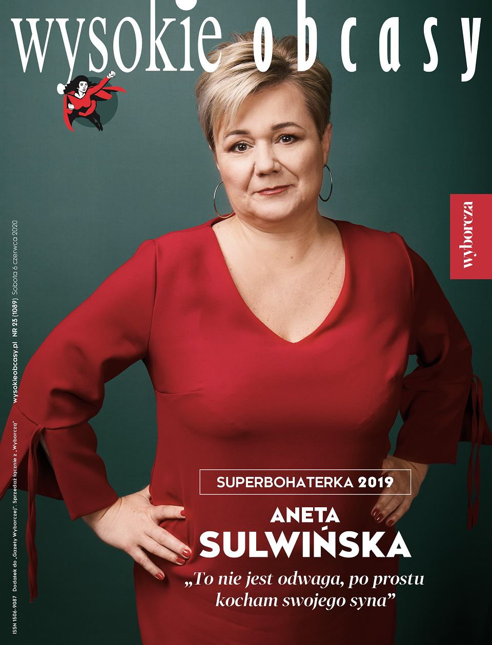 Aneta Sulwińska, Superbohaterka WO 2019r. Okładka WO